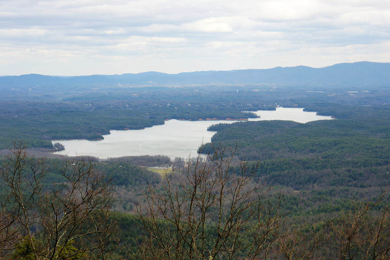 Lake James from the crest of Old NC Highway 105 several miles south of Wiseman's view
