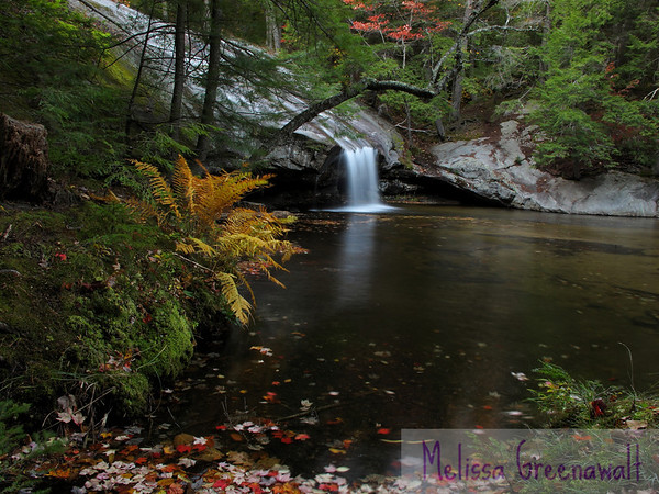 Fall's magic captivates at Beede Falls, Sandwich, NH.