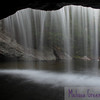 View from underneath Beede Falls in Sandwich.  This is a cool and refreshing place to be in the summer, and it's not often you can look through a waterfall!