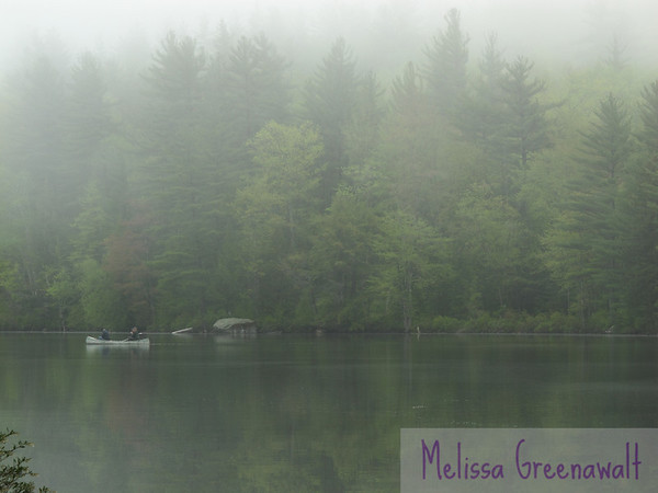 There's nothing quite like setting out from shore on a misty day. Perch Pond, Campton, NH.