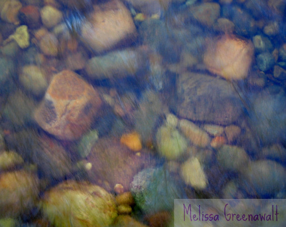 Riverbed colors in late winter, East Branch of the Pemi, White Mountain National Forest, NH.
