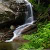 Bridal Veil Falls in Franconia, NH: a short, so very worthwhile jaunt through the woods.