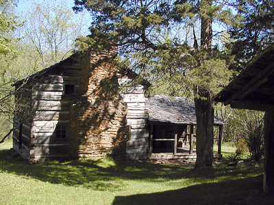 View of the Walker Cabin seen from the barn GSMNP May 2007