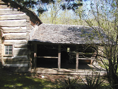 The old porch on the Walker Cabin GSMNP May 2007