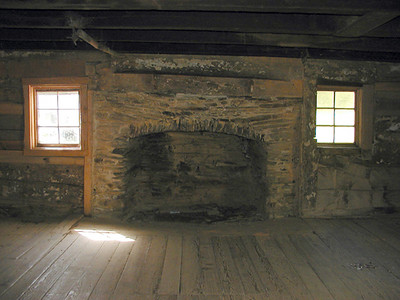 Fireplace inside Walker Sisters Cabin May 2007 GSMNP