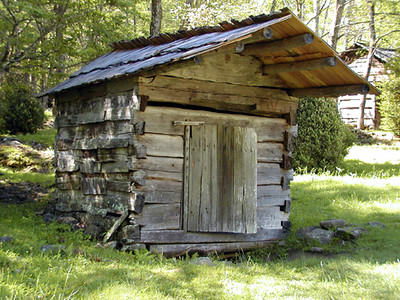 Springhouse at the Walker Sisters  GSMNP May 2007