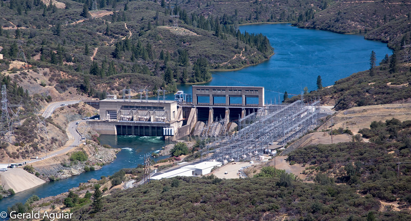 Keswick Dam - Helicopter View