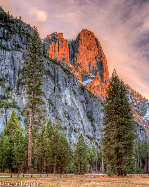 Cooks Meadow Sunset - Yosemite Valley