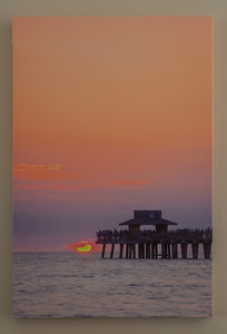 Pier end Sunset Vwetical