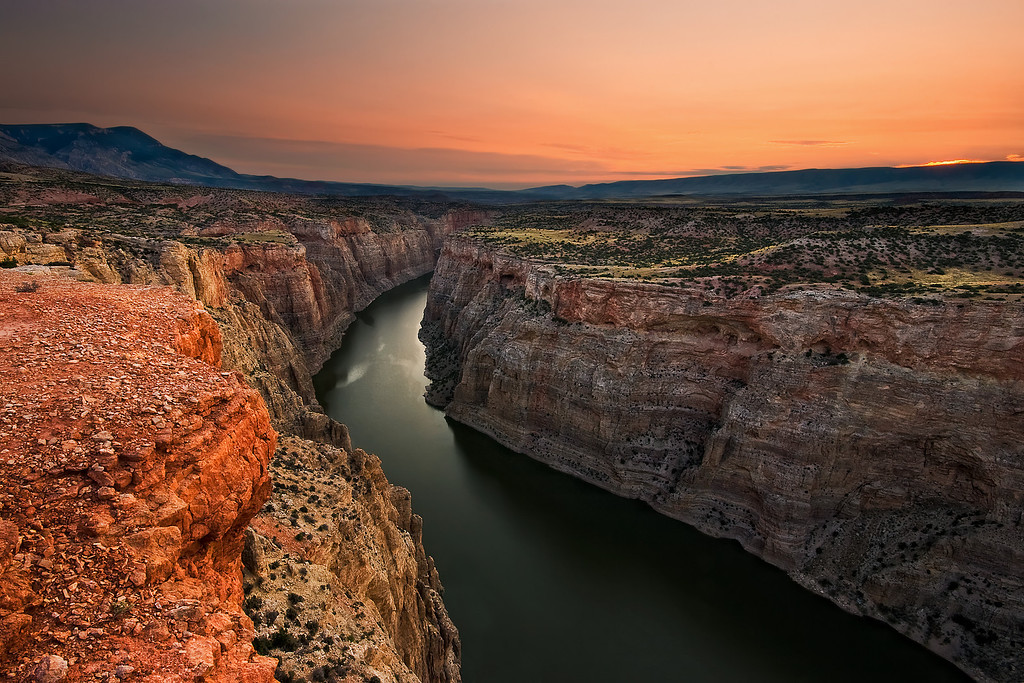 Canyon Sunrise.  Bighorn Canyon, MT
