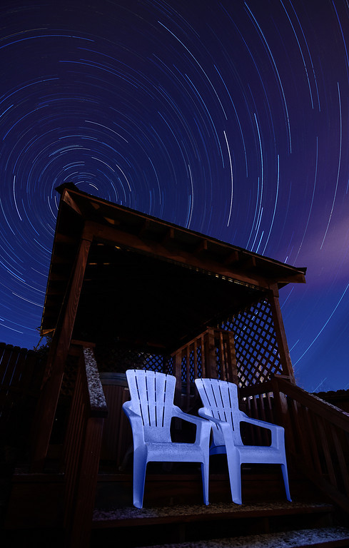 Star Trails Over Gazebo, Billings, MT
