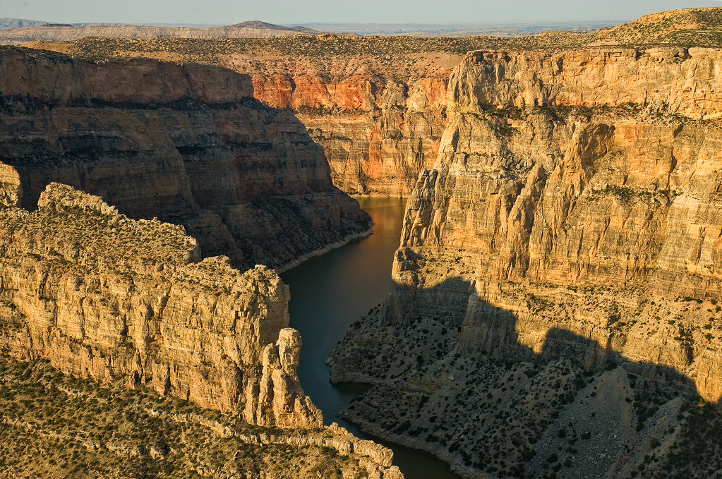 Bighorn Canyon.  View to the South, from Devil Canyon Overlook area.