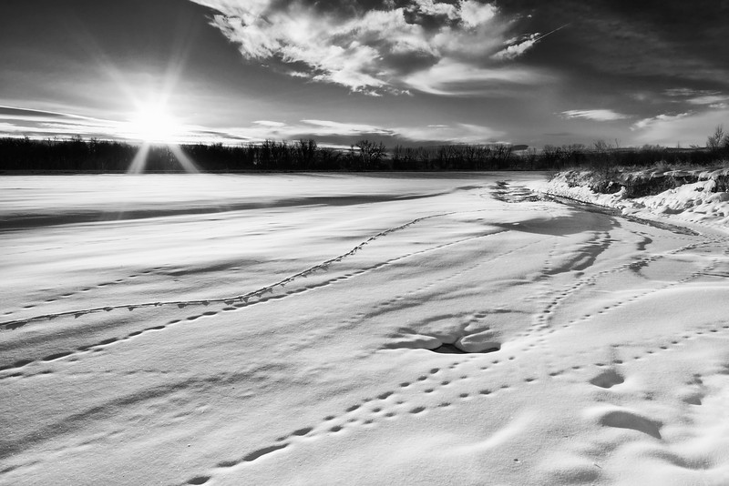 Yellowstone River in Winter