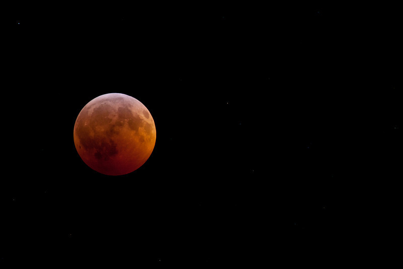 Total Lunar Eclipse from Billings, MT, 01:53 AM MST