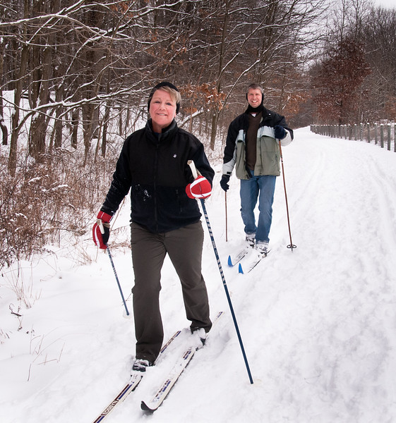 The Portage very close to parking lot. Audrey and Scott Bodnar.