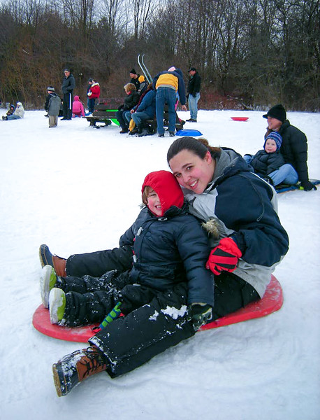 Sledding at Towner's Woods