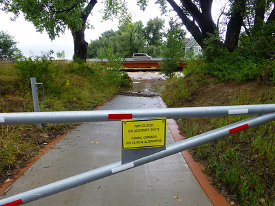 Left Hand Creek at 95th Street in Longmont.