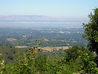 On the drive back down, I was able to pull over for this view of the south end of San Francisco Bay with Palo Alto and vicinity in the valley.