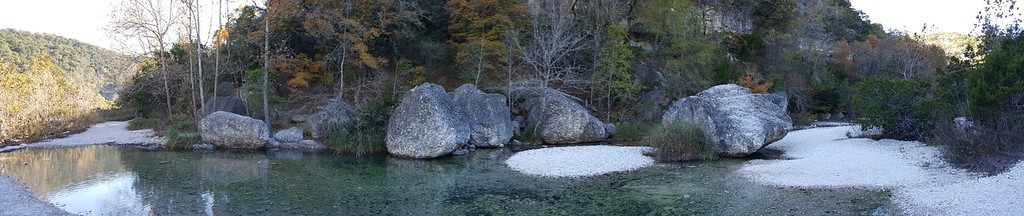 A panoramic shot of the river.