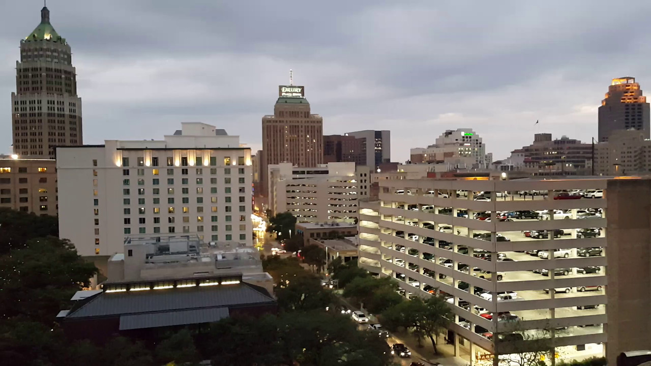 Video of the view from our 11th floor hotel room at the Hilton Palacio Del Rio.