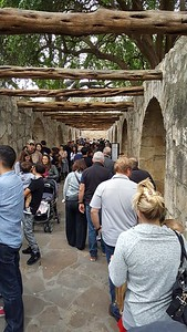 The line at the Alamo moved fairly quickly.