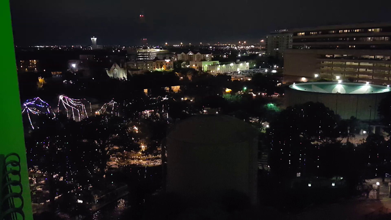 A night video from our hotel room at the Palacio Del Rio on the river walk