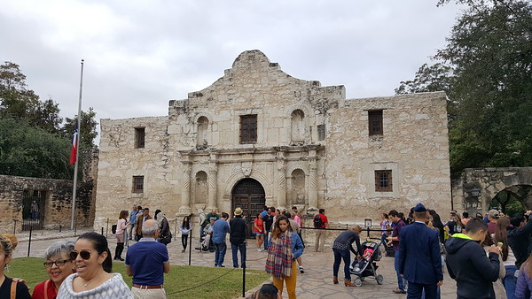 Front of the Alamo