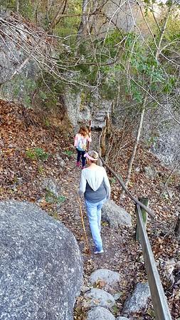 Nana and Laneyon the hike