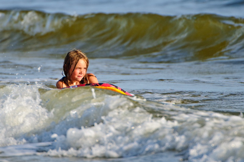 Young but serious surfer
