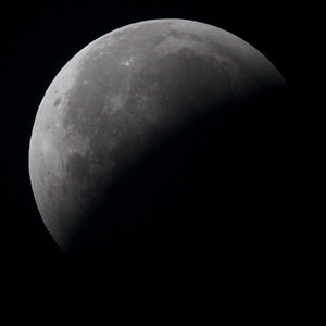 Lunar eclipse of 20 December 2010 at 1:25 Tuesday: moon has exited the umbra.
