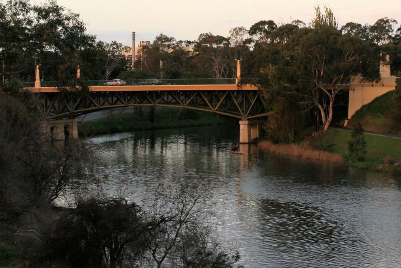 The MacRobertson bridge: the destination of our walk.