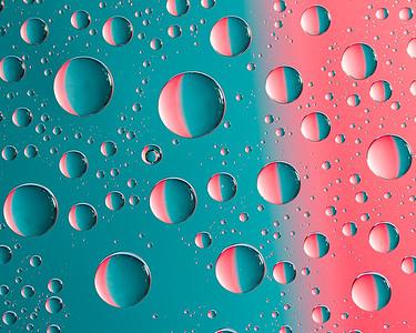 Water Drops on Aqua