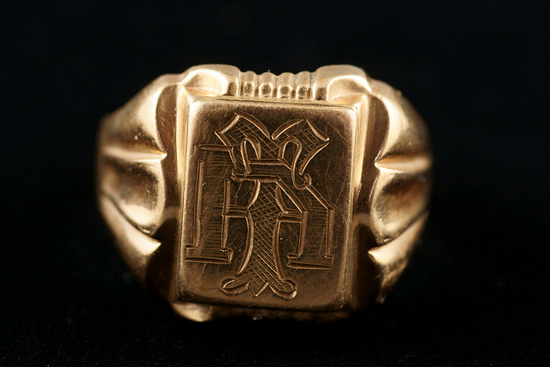 Gold ring.