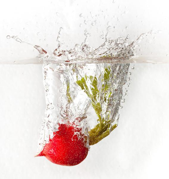 Wet radish.