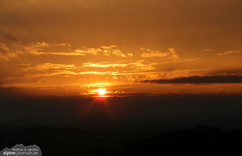 Sunset over Devon