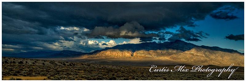 A patch of light on a desert evening.