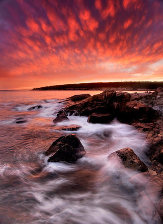 Rocky Sunset in Acadia