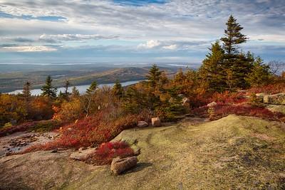 Cadillac Mountain, Jordon Pond, Otter Cliffs  - Oct 14