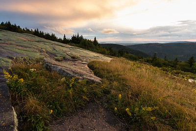Evening on Blue Hill Overlook, Cadillac Mountain