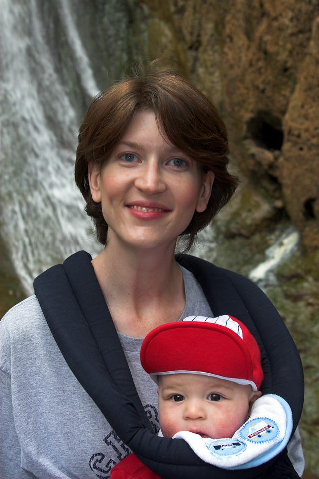 Maegan with Sheridan in Trekker!