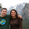 Timber and Tom in front of Yosemite Valley.