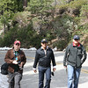 Tom, Shuvadeep, and Madhur walking up the road to Mariposa Grove.
