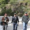 Tom, Shuvadeep, and Madhur walking up the road to Mariposa Grove.
