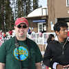 Tom and Shuvadeep at the Badger Pass Ski Area.