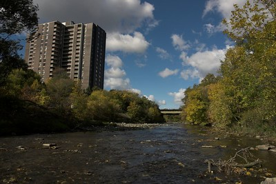 Looking north up Etobicoke Creek
