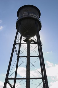 The Old Water Tower in Marie Curtis Park