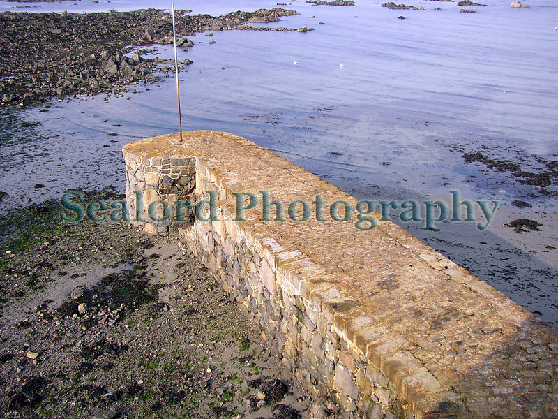 Salerie Corner pier after recent cleaning to remove seaweed