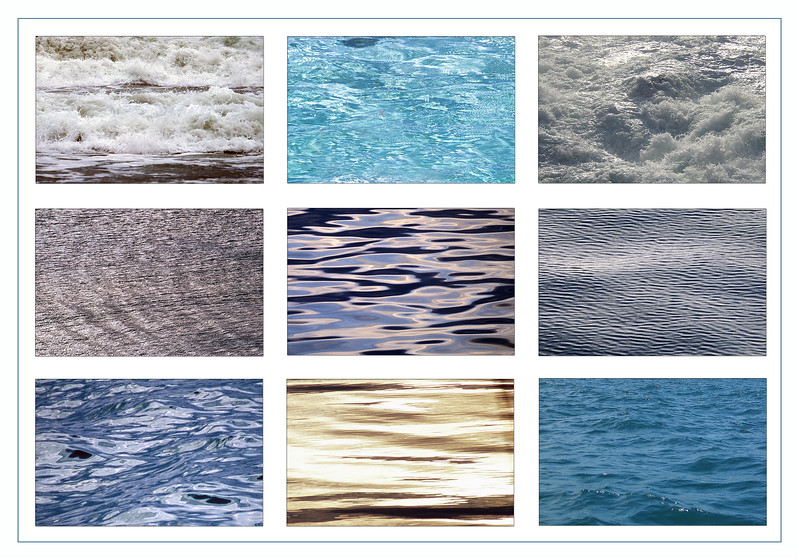 Sea surfaces from Guernsey and the Galapagos Islands<br /> ©RLLord<br /> fishinfo@guernsey.net