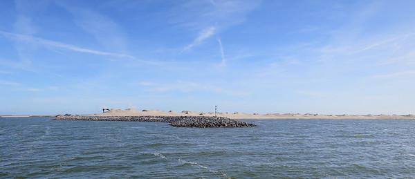 Onverwacht: na 2 uur varen is het net alsof je op een waddeneiland aankomt