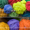 Colorful Dyed Wool Roving